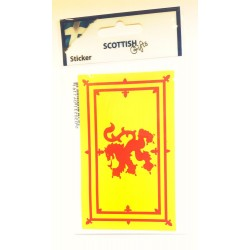 Medium Lion Rampant Car Sticker