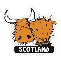 Highland Cow Car Sticker