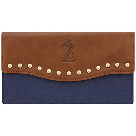 Zelda Wallet Breath of the Wild Logo Nintendo 19.5x11x2cm Brown Blue