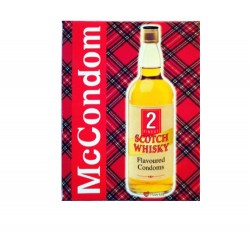 McCONDOM PACK OF 2 WHISKY FLAVOURED SCOTTISH CONDOMS
