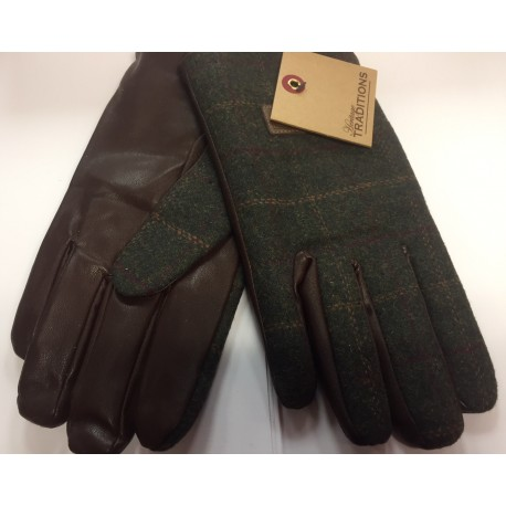 Heritage Traditions Green Box Tweed Mens Gloves in Gift Box