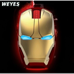Wireless mouse for Iron man appearance Creative power saving Notebook computer games mouse