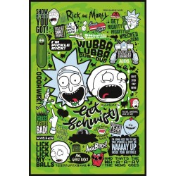 Rick and Morty Quotes Maxi Poster 61 x 91.5cm