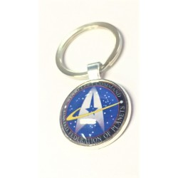 Star Trek Art Glass Dome Pendant Keychain