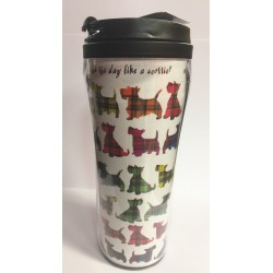 Multi Scottie Travel Mug