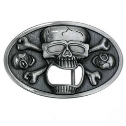 Skull, Bottle Opener Belt Buckle