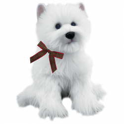 Large Wallace the Westie Highland Terrier 16""