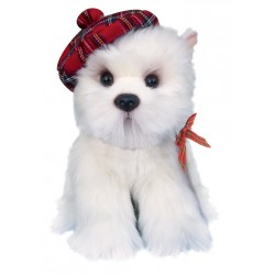 West Highland Terrier with Bonnet Soft Toy 12""