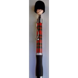 Scotland pen soldier head - tartan ball point - no quibble guarantee - dispatched free same day