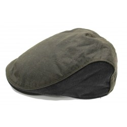 Heritage Traditions Green Wax Cord Flat Cap Hat (S/M)