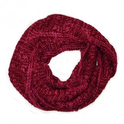 Aran Traditions Knitted Style Cable Design Snood, Rasberry Colour