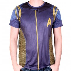 Star Trek Men's T-Shirt Discovery Commander Uniform Blue