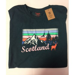 Scotland Stag Eagle T Shirt - XXL