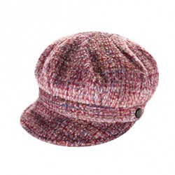 Heritage Traditions Tweed Wool Newsboy Cap Hat Pink