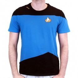 STAR TREK - T-Shirt NEXT GENERATION Blue Small