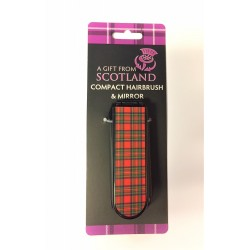Scottish Compact Hairbrush and mirror