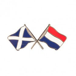 Scotland Saltire & Holland Flag Friendship Badge