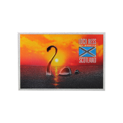 Loch Ness Monster at Sunset Metal Shiny Fridge Magnet