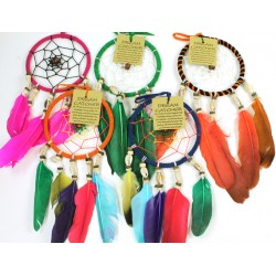 Suede and cowrie dreamcatcher (1 SUPPLIED)