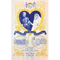 Prince Harry and Meghan Markle Wedding Day Tea Towel