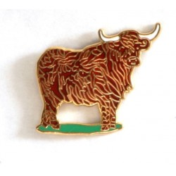 Highlande Cow enamel pin badge