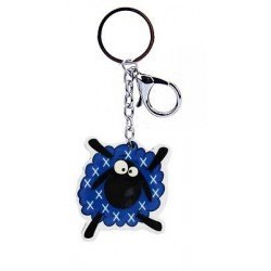 Scottish Multi Saltire Dancing Sheep Acrylic Keyring