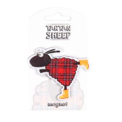 Scottish Tartan Sheep Rubber Magnet - Souvenir Made in Scotland