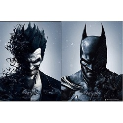 Batman Arkham Origins - Batman and joker - 3D Lenticular Poster - changes between the 2 characters