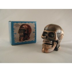 SKULL DIE-CAST ANTIQUE STYLE NOVELTY PENCIL SHARPENER