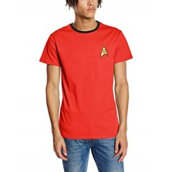 Star Trek Men's Command Uniform T-Shirt  (Large)