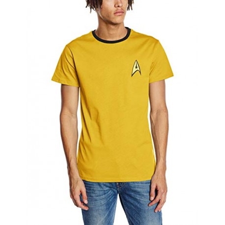 Star Trek Men's T-Shirt Yellow (XXL)
