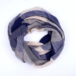 Basket Weave Style Snood, Blue and Grey Colours
