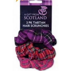 Scottish Tartan Scrunchies Pack of 3