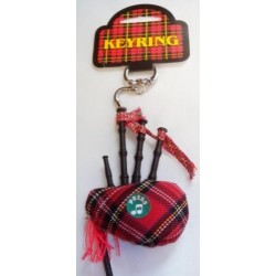 Tartan bagpipe Musical Key ring