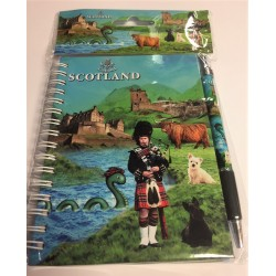 Scottish Collage Notebook and Pen