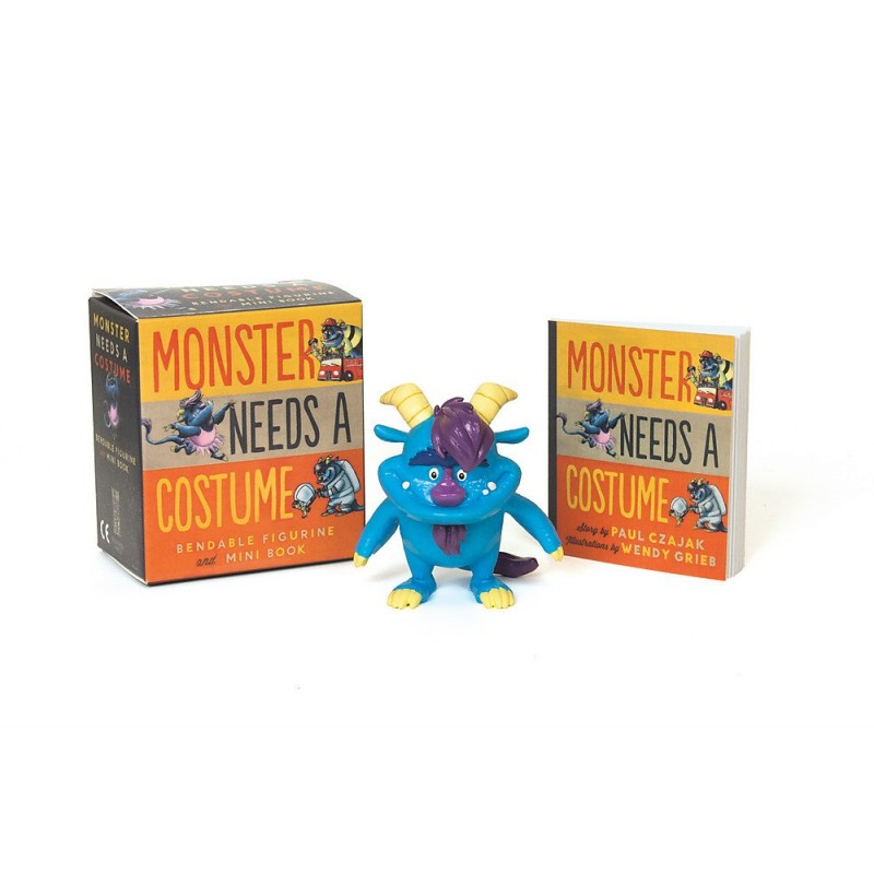 Monster Needs a Costume Bendable Figurine and Mini Book (Miniature Editions)