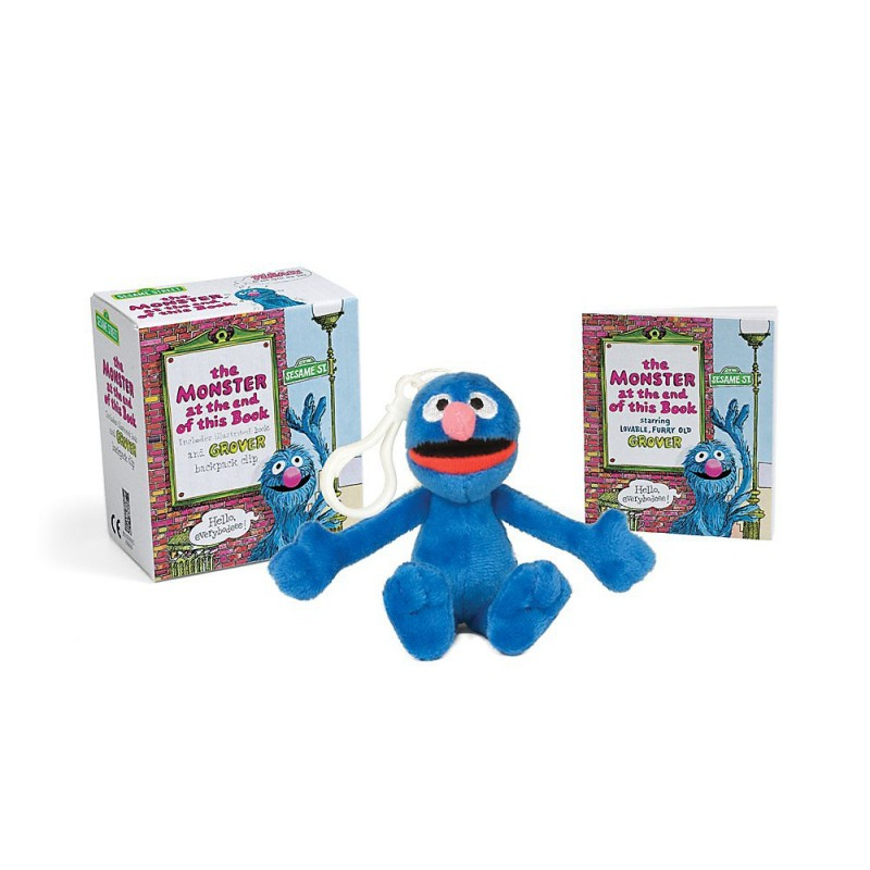 Sesame Street: The Monster at the End of this Book: Includes Illustrated Book and Grover Backpack Clip (Miniature Editions)
