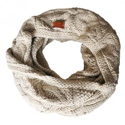 Aran Traditions Knitted Style Cable Design Snood, Oatmeal Colour