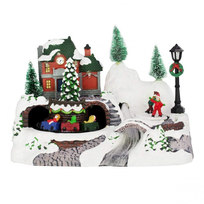 The Christmas Workshop Animated Train Ornament