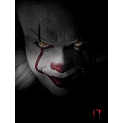 IT (Pennywise Closeup) Canvas Print 60cm by 80 cm by 2cm