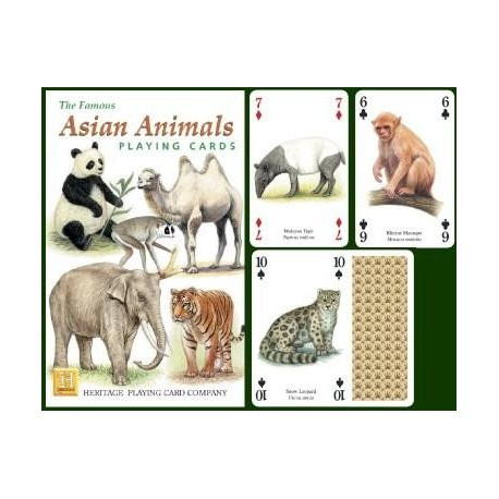Heritage Playing Cards. Asian Animals