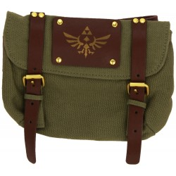 Nintendo Zelda Belt with Satchel and Triforce Logo (Green)