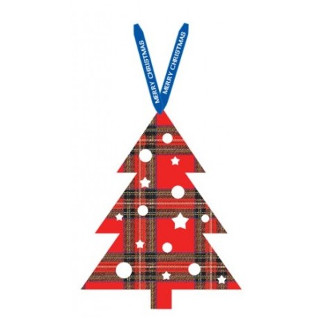 Tartan Christmas tree decoration