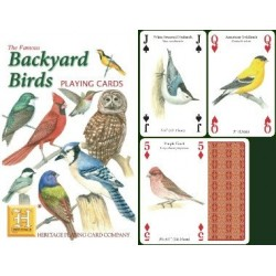 Heritage Playing Cards. Backyard Birds