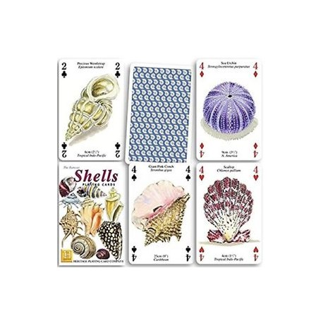 Heritage Playing Cards - Sea shells Playing Cards