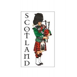 Scottish Piper Tea Towel
