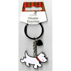 Scottish Westie Metal Keyring