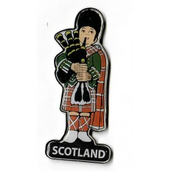 Scottish Piper Metal Magnet