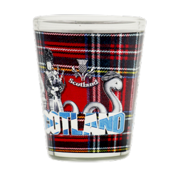 Tartan Scottish piper Shot Glass