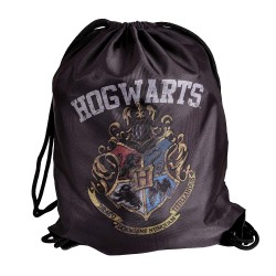 HARRY POTTER Sports Gymbag Hogwarts Crest 34,5x44cm grey black